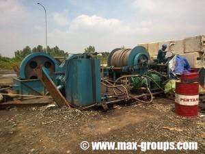 40 Ton max hydraulic winch