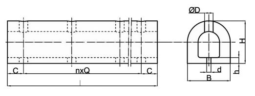D-type fender dimension