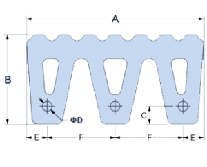 M type rubber fender