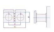 two cells per panel 2x1 horizontal type